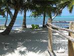Luxury 2 bedroom Belize villa. Beachfront!