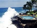 One of Kauai's most amazing oceanfront condo, Poipu Shores 103A, 2bd/2ba