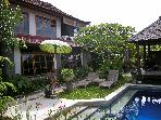 Angel Villa. Mas. Ubud. Private wall garden & pool
