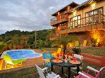 Majestic House in Ilhabela + Sea View + three bedrooms + pool + Jacuzzi + and more ...