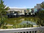 Beautifully-decorated 1 bedroom overlooking lagoon, just steps from the beach