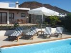 Villa with heated pool, Wifi, www.villas-enlanzarote.es