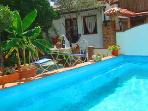 2 bedroom village house with pool and terraces