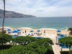 Right on the beach, in the center of Acapulco Bay
