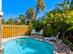 Southern Comfort: 2BR/2BA Pool Home One Block from Beach