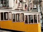 Bica tram, flat at Lisbon old town