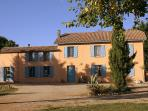 Chateau Lavanau, wine producing estate, pool, park