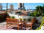 NEVE TZEDEK SPACIOUS 1BR, SEA VIEW & ROOF TERRACE