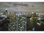 Riverside 40 floor stunning city view (2 BR)