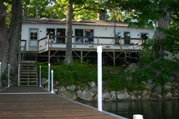 Cottage from the dock. - Walker Pond - Brooksville - rentals
