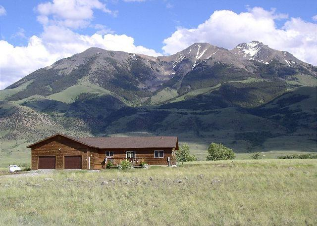 Incredible views of the Absaroka mountains from the home