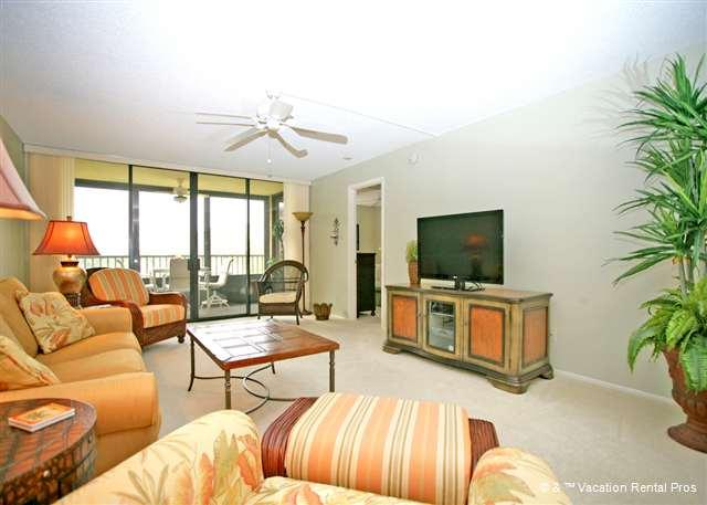 Make yourself at home in the spacious living room