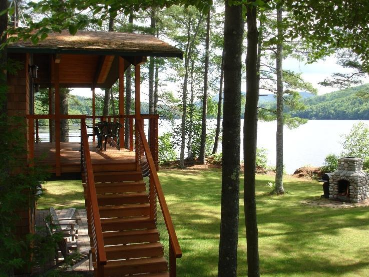 Lake House Pond and Deck