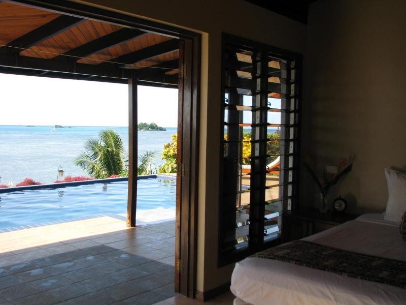french doors lead directly to your private pool