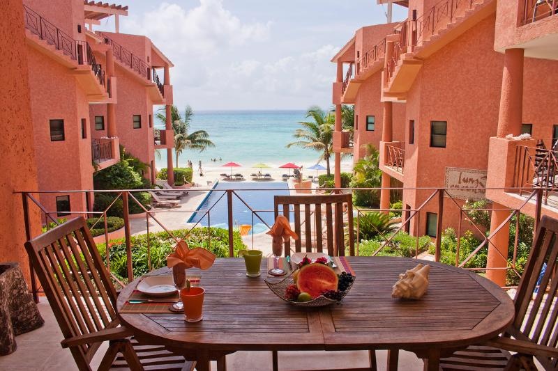 Enjoy breakfast & coffee and see the sunrise - Luna Encantada G-2 - Playa del Carmen - rentals
