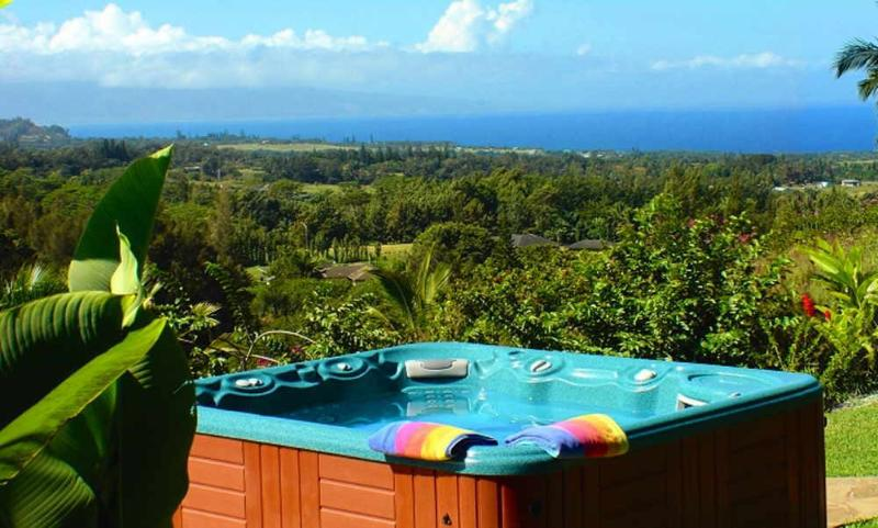 Your private, ocean-view Jacuzzi