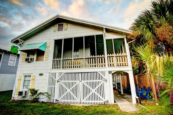 My Beach House screened porch and slatted game room
