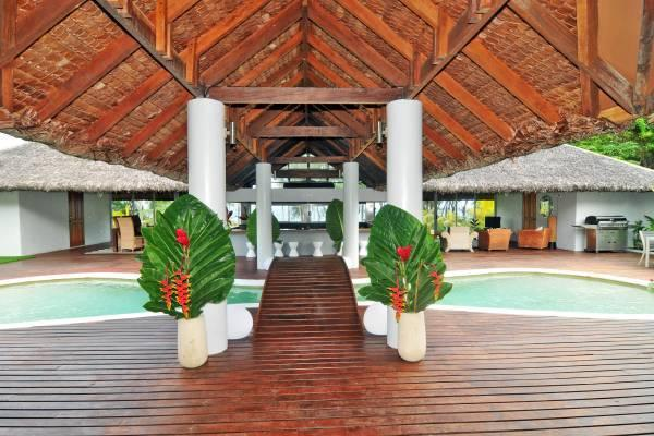 Looking across the bridge over the pool - Vanuatu Luxury Villa - Port Vila - rentals