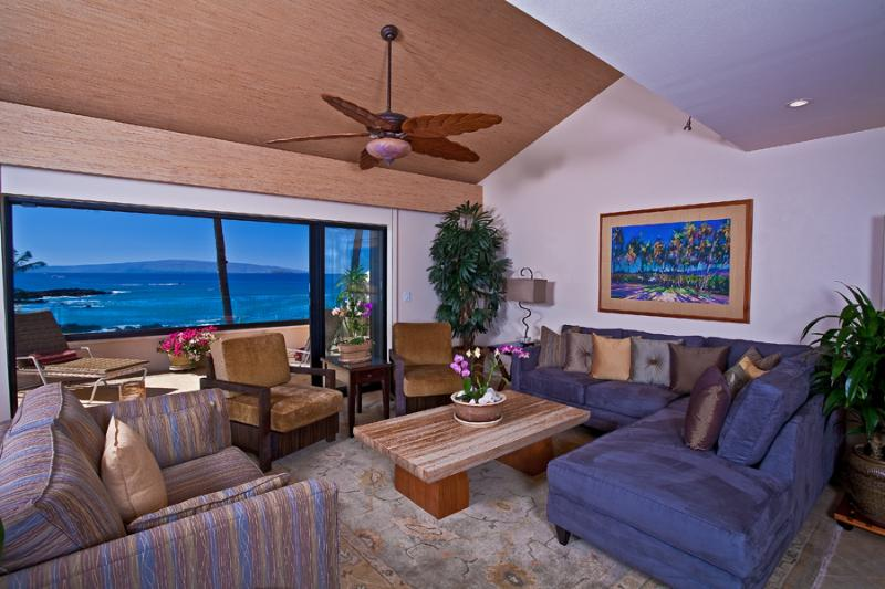 Large Open Ceiling Living Area with Stylish Contemporary All-New Furnishings - Opens to Expansive Private Outdoor Veranda