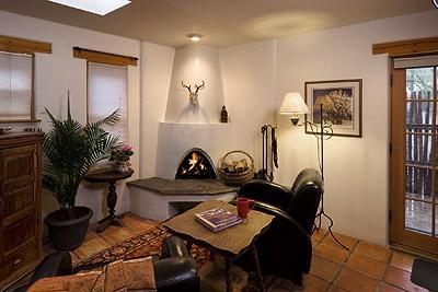 Relax in comfort amidst true Santa Fe style.