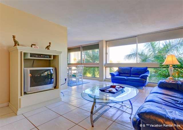 Our modern style condo has great views and bright colors!