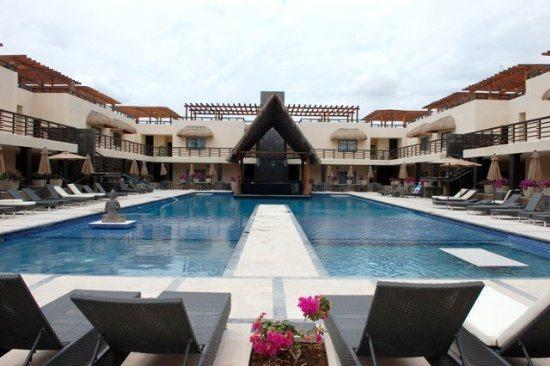 Aldea Thai penthouse Passion- swimming pool common areas - Vacation rentals Playa del Carmen