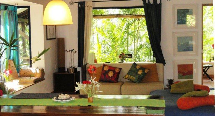The living room during the monsoons