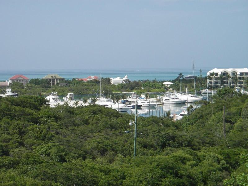 View of Turtle Cove Marina from the deck.