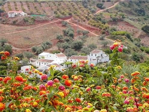 View of the village and Casa Granadina - Casa Granadina, Costa del Sol, Andalusia - Comares - rentals