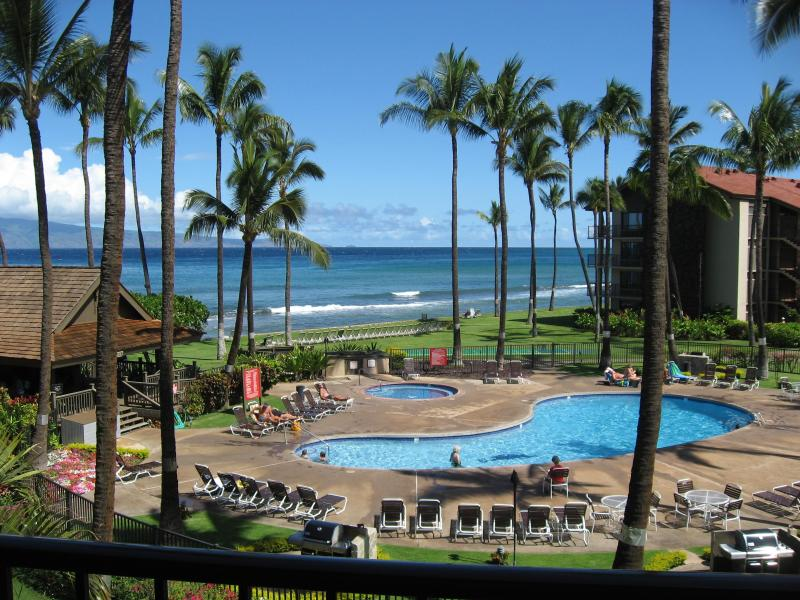 View from lanai-  You can truly hear the ocean!