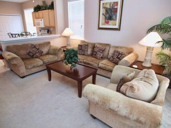 Family Room - WHH3P331HC 3 Bedroom Villa for Vacation In Orlando Fl - Davenport - rentals
