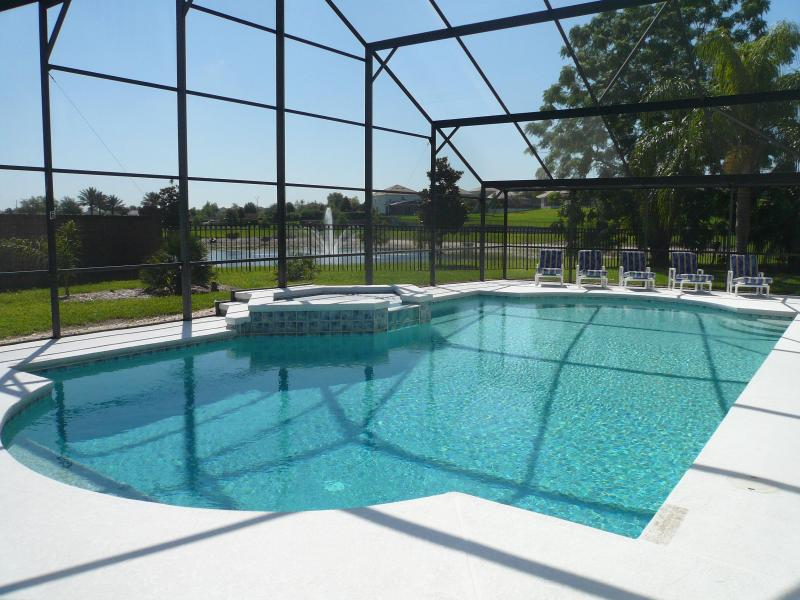 Pool/SPA, Loungers in the SOUTH sun and the secluded pond/fountain view