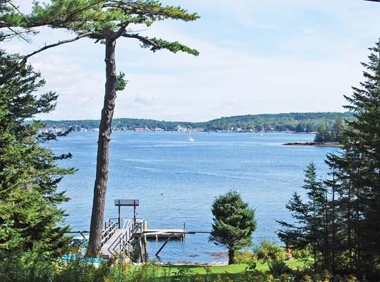 View out over Boothbay Harbor