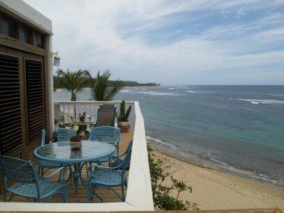 Private beachfront deck - Villa #4