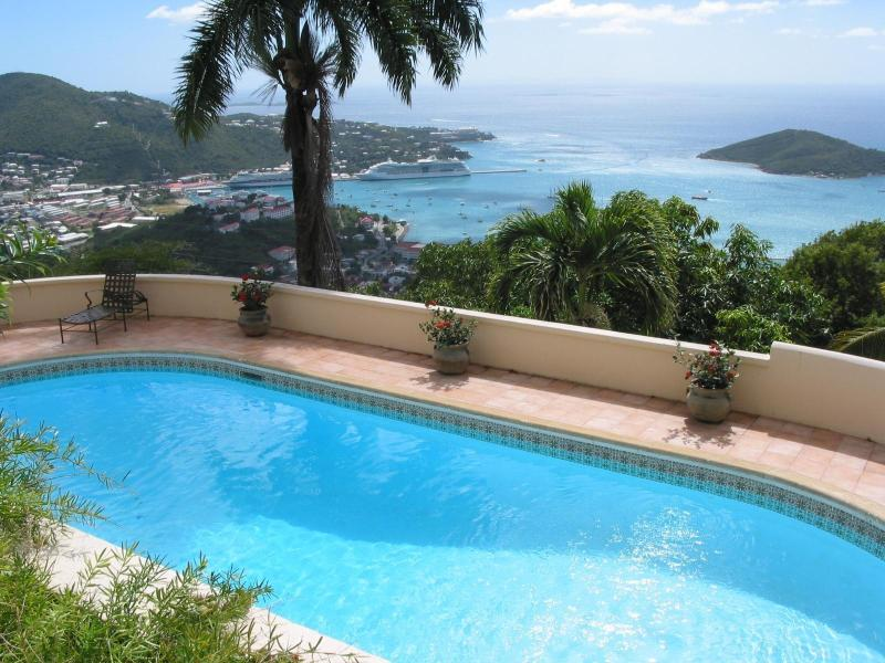 Virgin Islands villas pool - Private Harbor View Villa with Large Swimming Pool - Charlotte Amalie - rentals