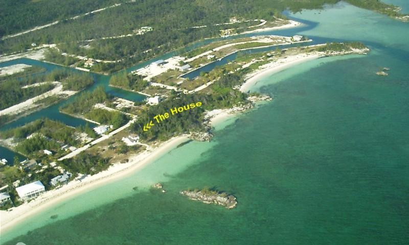 Arial of The Nutty Mermaid-Your Own Private Beach!