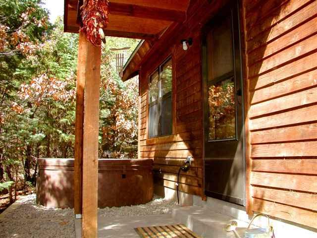 Inviting rustic setting and solid cedar siding