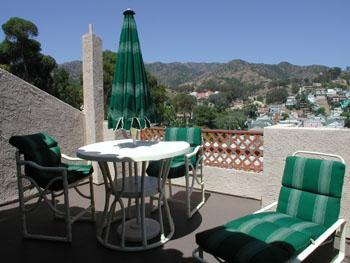 Our very large terrace overlooking the mountains and Avalon