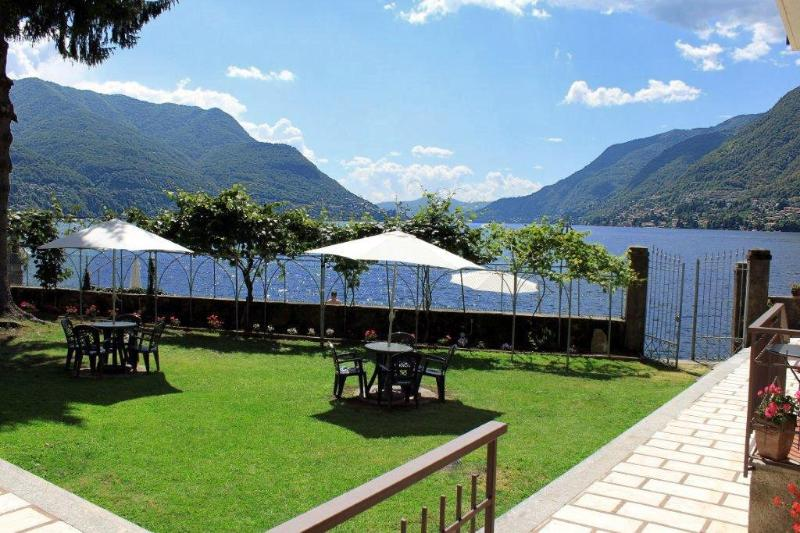 Entry to Our Private Lido at the Lake Como Beach Resort