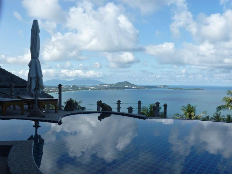 outstanding views from the upper pool, toward Chaweng Bay