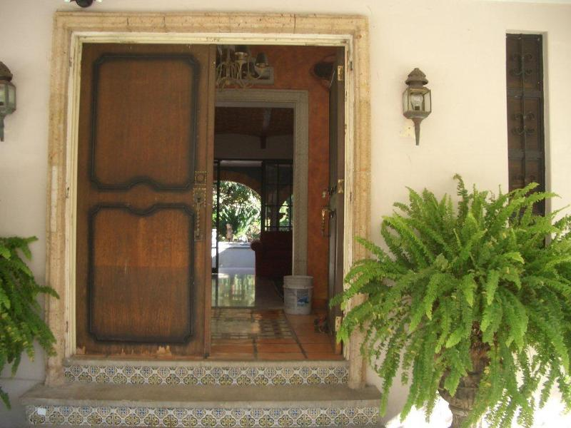Front door to the house