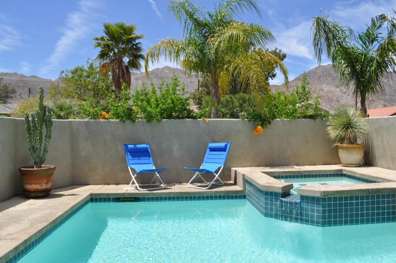 Heated, Private Saltwater Pool & Spa With The Santa Rosa Mountains In Background - EcoFriendly Desert Oasis, Salt Pool, 3BR View Home - La Quinta - rentals