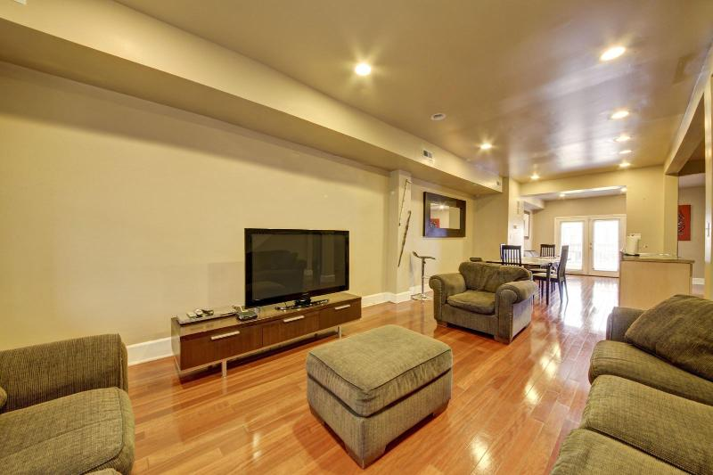 Living Room with 50 Inch HDTV