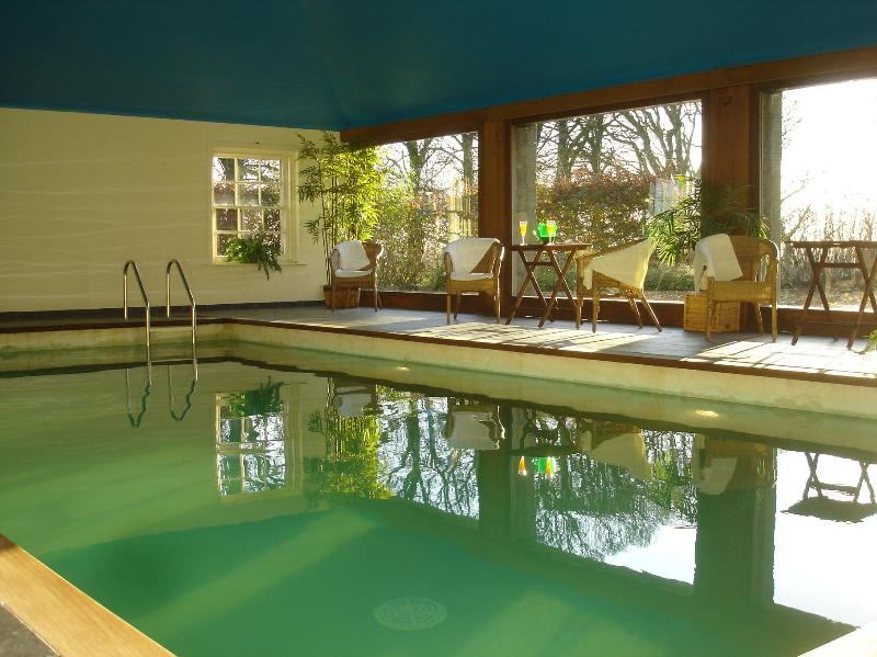 Indoor heated pool at House of Craigie