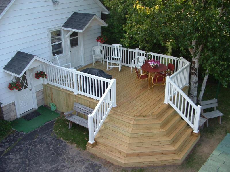 Back Deck Area - Hasenjager's Country Home - Fish Creek - rentals