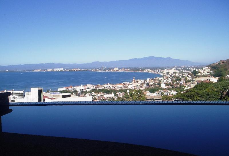 View from your private heated infinity dipping pool on terrace.