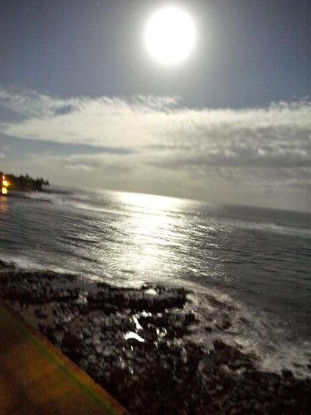 View  & picture from lanai, full moon