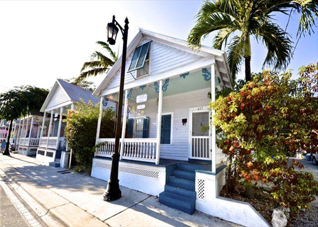 Front of Charming, Historic Conch Home Located In Between Duval and Whitehead Streets