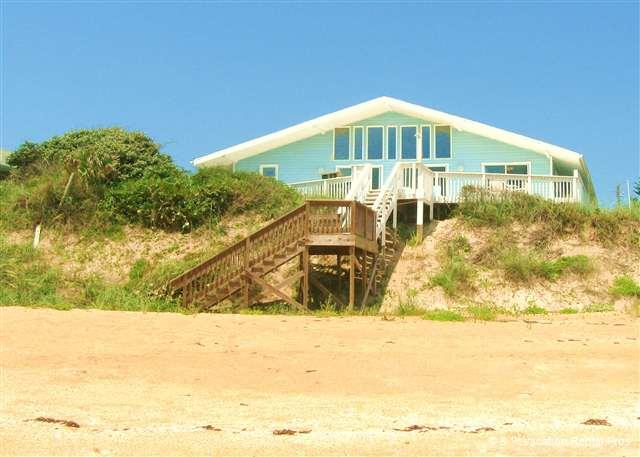 Blue Ocean Breeze sits high on dune and is beach front