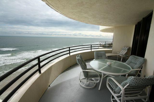 Balcony looking south - Direct Oceanfront Condo - Daytona Beach - rentals